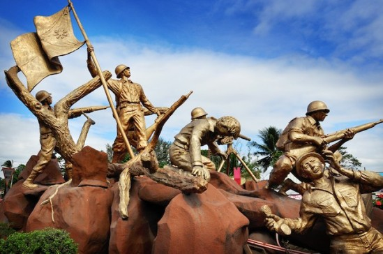 Primera línea de defensa Marcador de Bataan